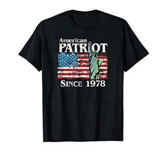 American Patriot Since 1978 Liberty US Flag 42nd Birthday p1 T-Shirt