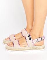 Love Moschino Glitter Espadrille Flatform Sandal