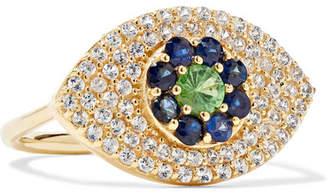 Ileana Makri Blossom Drops 18-karat Gold Multi-stone Ring - 6