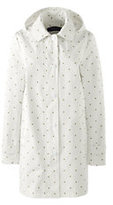 Lands' End Women's Petite Coastal Rain Parka-Eggshell White Dot
