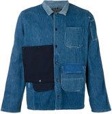 Longjourney patched denim shirt
