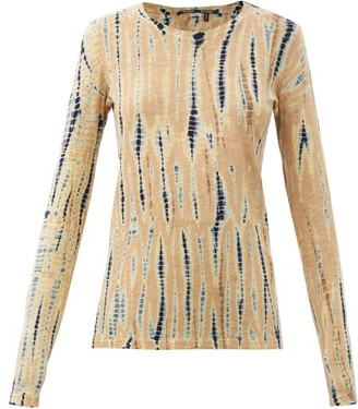 Proenza Schouler Tie-dyed Cotton-jersey Long-sleeved T-shirt - Beige Multi