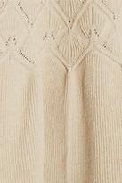 Alexander McQueen Textured knitted peplum top