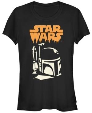 Fifth Sun Star Wars Women's Boba Fett Dripping Ooze Logo Halloween Short Sleeve Tee Shirt
