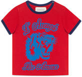 Gucci Baby tiger print cotton t-shirt