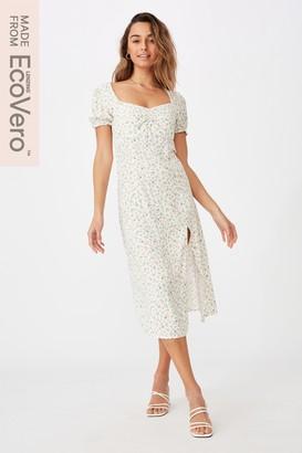 Supre Zendaya Peasant Sleeve Midi Dress