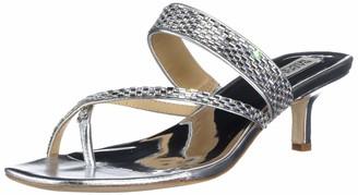 Badgley Mischka Women's Kitten Heel Slide Heeled Sandal