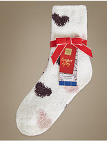 M&S Collection 2 Pair Pack Bed Socks