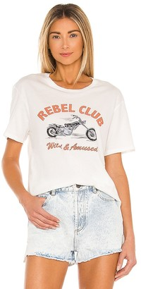 Amuse Society Rebel Club Short Sleeve Knit Tee