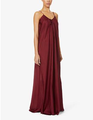 POUR LES FEMMES Paris silk-satin nightdress
