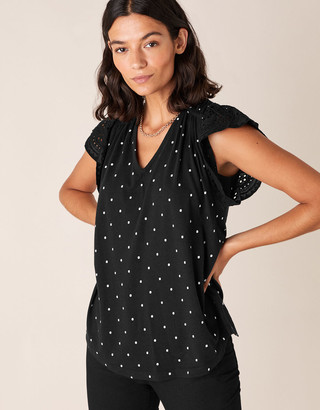 Under Armour Spot Top with Linen and Organic Cotton Black