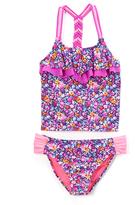 Vigoss Sugar Plum Nicki Beach Flounce Tankini - Girls