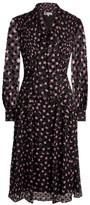 Diane von Furstenberg Aleka Devore Tie-Neck Dress