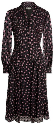 Diane von Furstenberg Aleka Devore Tie-Neck Dress