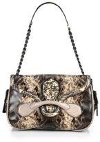 Bottega Veneta Karung & Ayers Snakeskin Medium Shoulder Bag