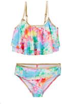 Betsey Johnson Tie Dye Two-Piece Swimsuit (Big Girls)