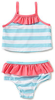 Starting Out Baby Girls Striped Ruffled Tankini 2-Piece Swimsuit