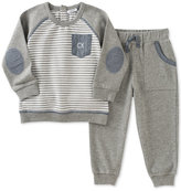 Calvin Klein 2-Pc. Striped Sweatshirt & Jogger Pants Set, Baby Boys (0-24 months)