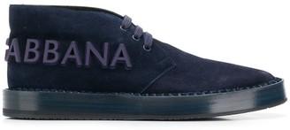 Dolce & Gabbana Logo Chukka Boots