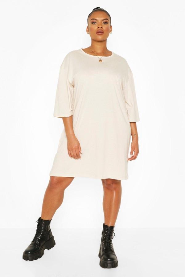 boohoo Plus Drop Armhole T-shirt Dress