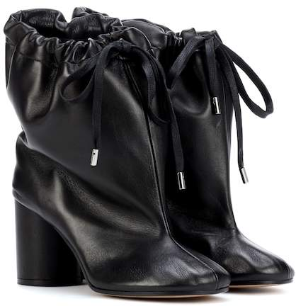 Maison Margiela Oversized leather ankle boots