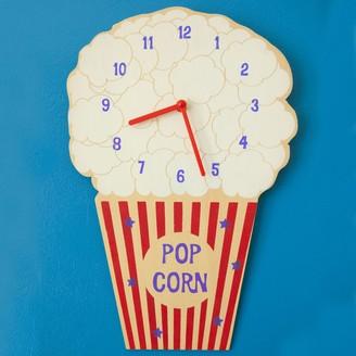 Little Mashers - Popcorn Kids Glow In The Dark Clock - Red/Blue/White