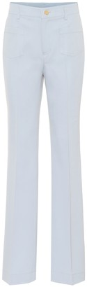 RED Valentino high-rise flared cotton-blend pants