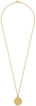 Dear Letterman Gold Dahmi Pendant Necklace
