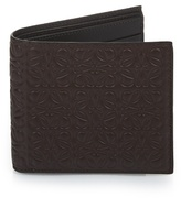 Loewe Logo-debossed leather bi-fold wallet