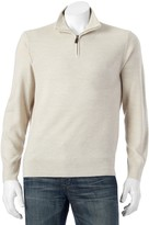 Dockers Men's Classic-Fit Marled Comfort Touch Quarter-Zip Sweater