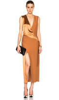 Dion Lee Silk Satin Belted Shell Dress