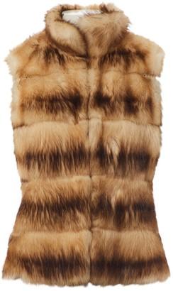 Dennis Basso Brown Fur Jacket for Women