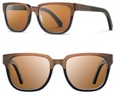 Shwood Women's 'Prescott' 52Mm Polarized Titanium & Wood Sunglasses - Bronze Titanium/ Brown Polar