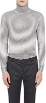 Lanvin Men's Striped Turtleneck Sweater-BLACK, LIGHT GREY, NO COLOR