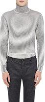 Lanvin Men's Striped Turtleneck Sweater-BLACK, LIGHT GREY, NO COLOR