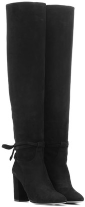 Aquazzura Milano 85 suede over-the-knee boots
