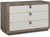Caracole Fusion 3-Drawer Dresser - Ashen Oak frame, ashen oak/gray; hardware, nickel