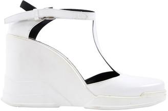 Prada \N White Rubber Heels