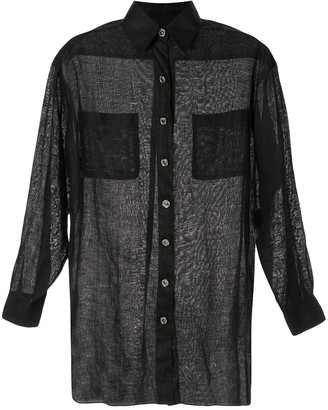 Chanel Pre Owned Linen Straight Shirt