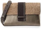 Brunello Cucinelli Metallic Monili-Beaded Crossbody Bag, Bronze