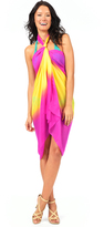 Voda Swim Magenta/Yellow Sarong Cover Up