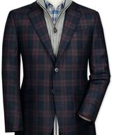 Charles Tyrwhitt Classic fit navy check lambswool jacket