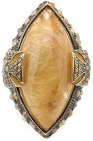 Loree Rodkin quartz and diamond Maltese cross ring