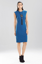 Josie Natori Double Knit Jersey Sleeveless Dress