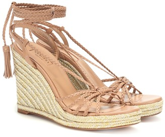 Aquazzura Savannah Espadrille 85 leather wedges