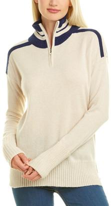 Kier & J 1/2-Zip Cashmere Sweater
