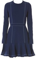 Carolina Herrera Long-Sleeve Ruffle Dress