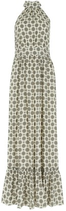 MICHAEL Michael Kors Printed High Neck Maxi Dress