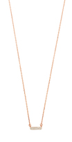 Adina Super Tiny Pave Bar Necklace