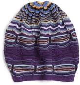 Missoni Women's Stripe Slouchy Beanie - Purple